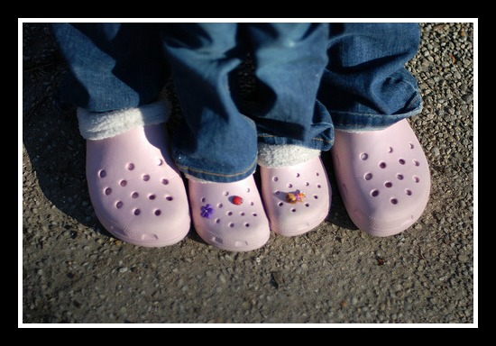 Pink_Mother_Daughter_Crocs