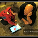 Bonding over technology: Teaching dad how the tablet works #VZWVoices #Mom