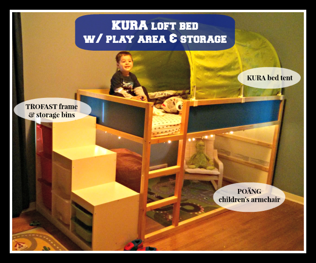 IKEA KURA Loft Bed: Levi's new big boy room - Life With Levi