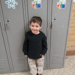 Levi's first day of preschool