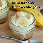 No Bake Banana Cheesecake Jars - recipe at www.lifewithlevi.com