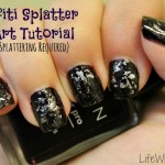 Graffiti Splatter Nail Art Tutorial