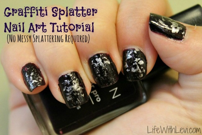 Graffiti splatter nail art technique life with levi graffiti splatter nail art tutorial prinsesfo Choice Image