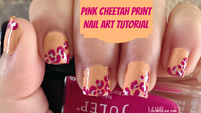 pink cheetah print nail art tutorial