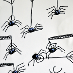 Halloween Thumbprint Spiders Activity