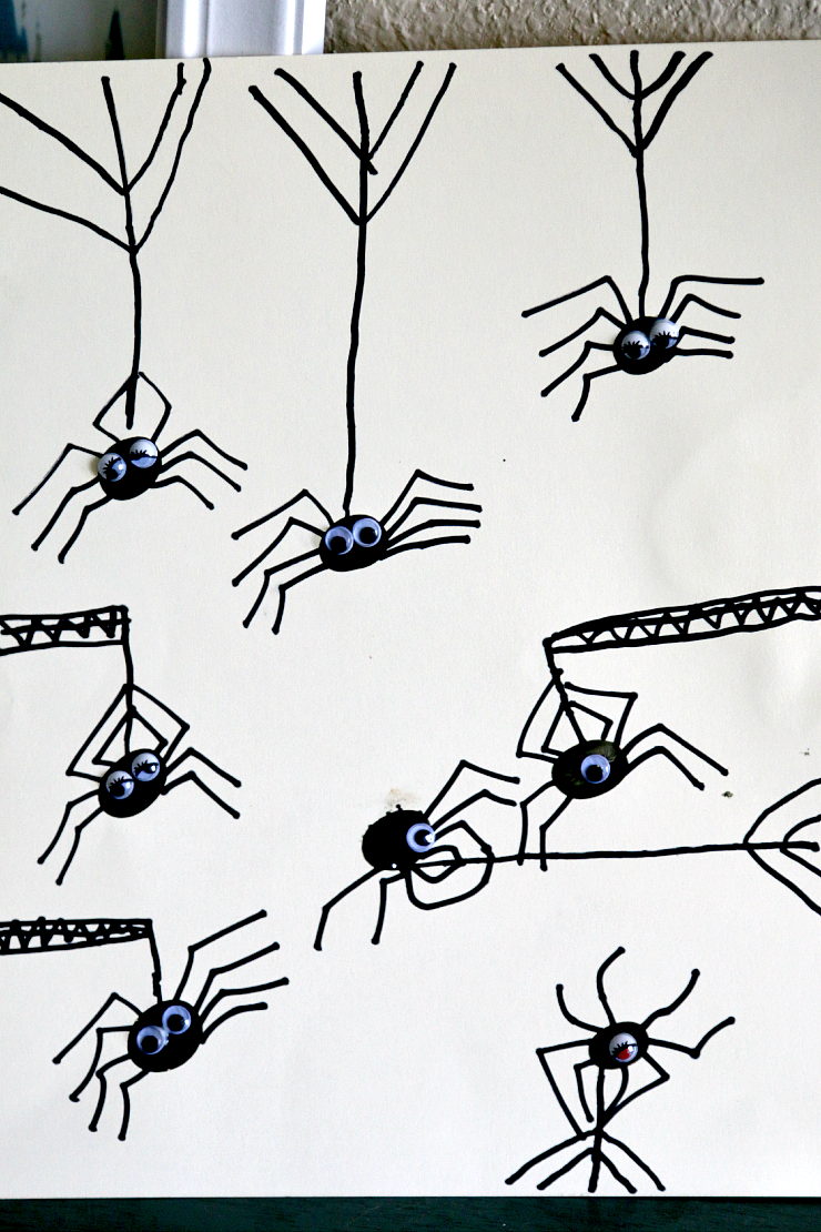 halloween thumbprint spiders activity life with levi