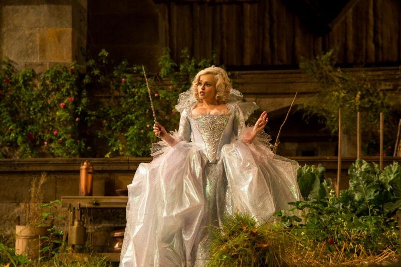 Helena Bonham Carter as the Fairy Godmother in Cinderella 2015.