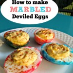 Learn how to make fun, colorful marbled deviled eggs