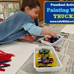 Painting with trucks on LifeWithLevi.com