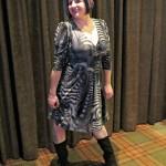 Penelope in Grey Swirl from Karina Dresses