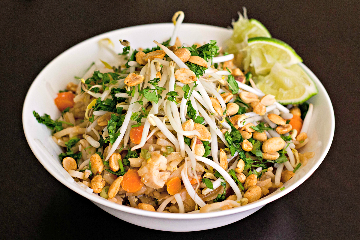 Easy chicken pad thai recipe life with levi for Healthy chicken pad thai