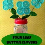 Dollar Store Craft: Four Leaf Button Clovers